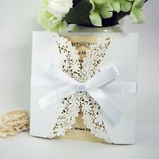 Invitation card Wedding incl. Satin ribbon and Envelope, wedding, for dress