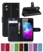 """NEW Leather slot wallet stand flip Cover Skin Case For ZTE Quest 5 Z3351S 5"""""""