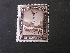 NEWFOUNDLAND, SCOTT # 211, 15c. VALUE 1933 DOG SLED & PLANE OVPT ISSUE MNH