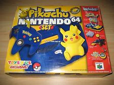 Nintendo 64 Console NTSC N64 Pikachu Pokemon New In Box