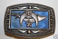 Vintage NY CII Custom Free Masons Shriners Sword Eastern Star Belt Buckle Rare