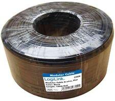 LogiLink Telefonkabel flach 4-adrig 100 M (weiß)
