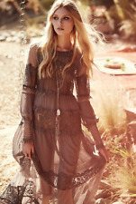 NWT Free People For Love & Lemons Alexa Black Lace Dress Sheer Lined $290