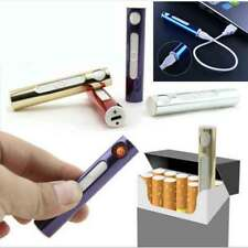 Mini USB Electric Slim Lighter Cigrette Rechargeable Flameless Windproof Heat