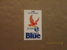 Wbl Hamilton Skyhawks Vintage Defunct Circa 1992 Logo Basketball Pocket Schedule