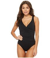 Tommy Bahama Pearl One-Piece Black Swimsuit 7204 Size 14