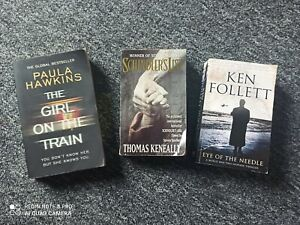 Set of 3 Books-The Girl on the Train, Schindler's List,Eye Of The Needle