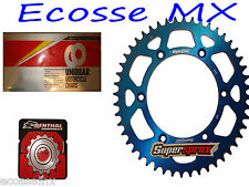 Yamaha YZF250 Gold Heavy Duty Chain and Supersprox Blue Sprocket Kit