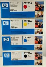 4 Genuine HP Color LaserJet 1500 2500N TONER C9700A C9701A C9702A C9703 SEALED