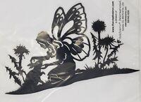 Creative Iron Large Garden Fairy 8 C0214 Laser Cut Fusible Fabric Art Applique