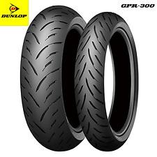 Coppia gomme pneumatici Dunlop MOTO GPR-300 120/70 ZR 17 58W + 180/55 ZR 17 73W