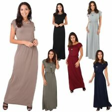 Boat Neck Casual Dresses for Women's Maxi Dresses