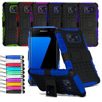 For Samsung Galaxy S7 Edge Heavy Duty Shock Proof Hard Case Cover + Film + Pen