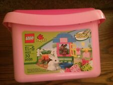 LEGO DUPLO 4623 Pink Easter Bunny Tub New in Bucket!