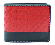 New Starhide RFID BLOCKING Red Black Real Leather Coin Pocket Wallet Purse 1170