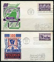 UNITED STATES LOT OF FOUR CACHET CRAFT FIRST DAY COVERS