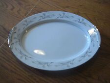 SEARS HARMONY HOUSE 3541 PLATINUM GARLAND LARGE OVAL SERVING PLATTER