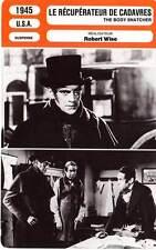 FICHE CINEMA : LE RECUPERATEUR DE CADAVRES - Karloff,Lugosi 1945 Body Snatcher