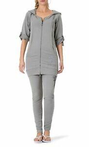 BCBG MAXAZRIA, Cross Crest Hoodie & Skinny Pant Set BC13570J/P Grey