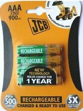 4 x JCB AAA 900mah Rechargeable Batteries LR03 HR03 Charged and Ready to Use