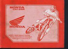 (43A) REVUE TECHNIQUE MANUEL ATELIER MOTO HONDA CR125R de 1992