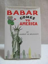Babar Comes To America Hardback Book with Dust Jacket