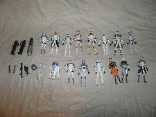 Star Wars The Clone Wars Clone Troopers Action Figure Lot