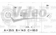 VALEO Alternador para RENAULT MEGANE CLIO KANGOO FORD SEAT IBIZA VW 437400