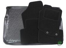 PEUGEOT 207 5DR HATCHBACK 2006-12 Tailored black floor car mats + boot tray mat