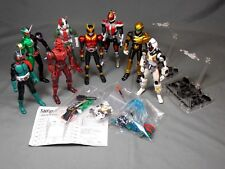 S.H. FIGUREARTS MASKED KAMEN RIDER LOT OF 8 FIGURES + STANDS & PARTS BANDAI