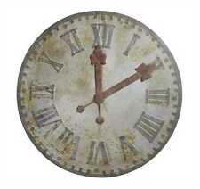 """INDUSTRIAL STYLE LARGE 48"""" D  RUSTIC  METAL ROUND WALL CLOCK BIG ROMAN NUMBERS"""