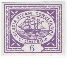 (I.B) St Lucia Cinderella : St Lucia Steam Conveyance 6d