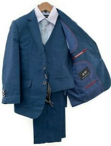 Kids World Big Boys/' Husky 5-Piece Suit Sizes 10H - 20H
