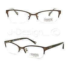 COACH HC 5046 (Leigh) 9155 (Satin Brown/Dark Tortoise) 52/18/135 Eyeglasses New