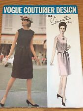 1960s VOGUE COUTURIER SEWING PATTERN 1466 SIMONETTA MISSES SLEEVELESS DRESS 14