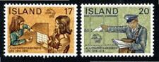 KL6039 1974 Iceland #474-5 Set of 2 UPU Selling Stamps & Delivering Mail MNH