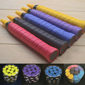 10pcs Stretchy Squash Racquet Handle Sweat Band Absorb Over Grip Tape 82UK