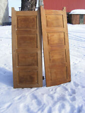 Pair Vintage Solid Wood Doors Swinging kitchen restroom Architectural Salvage