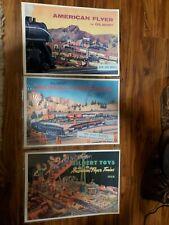 1950 1957 1958 GILBERT AMERICAN FLYER CATALOG REPRINT plus train centerfolds