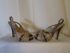 zapatos ASH pitón beige/negro 36