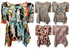 NEW LADIES PLUS SIZE MULTI COLOR FLORAL ANIMAL STRIPE PRINT TUNIC TOPS 16-26