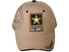 New Heavy Duty Adjustable Acrylc DELUXE US ARMY KHAKI HAT CAP WITH A SHADOW