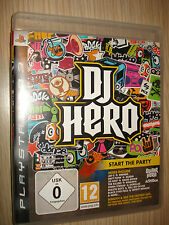 GIOCO PS3 PLAYSTATION 3 GUITAR DJ HERO TUTTO IN ITALIANO START THE PARTY