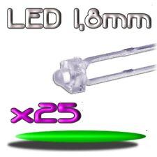 360/25# LED verte 1,8mm 25pcs --- 8000mcd