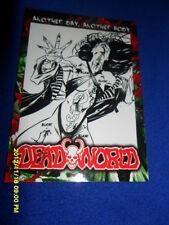2012 BREYGENT DEAD WORLD ZOMBIE CARD #55 & 56 & 57 COMIC ART