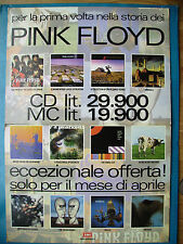 PINK FLOYD CARTONATO  PUBBLICITARIO ORIGINAL DISPLAY PROMO ADVERT cm.68x98