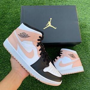 "Nike Air Jordan 1 Mid ""Crimson Tint"" 554724-133 Men's Size 8 ✅SHIPS TODAY📦"