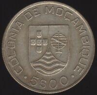 1935 Mozambique Silver 5 Escudos | World Coins | Pennies2Pounds