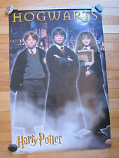 Harry Potter Hogwarts Castle Poster Ron, Harry, Hermione 23 by 34 inches
