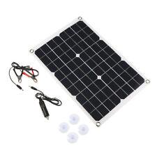 20W 18V Solarmodul Solarpanel Monokristallin Solarzelle Ladegerät mit Kabel G2R1